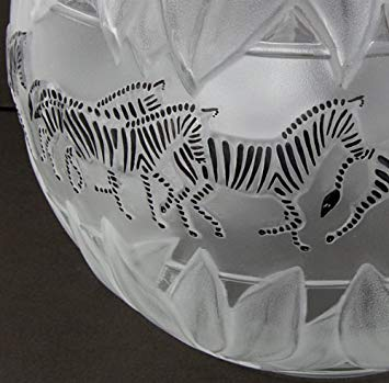 Lalique Crystal Tanzania ( Zebra ) Clear Vase - china-cabinet.com