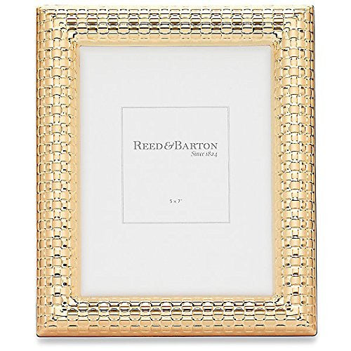 WATCHBAND Satin Gold 5x7 frame by Reed & Barton® - 5x7 - china-cabinet.com