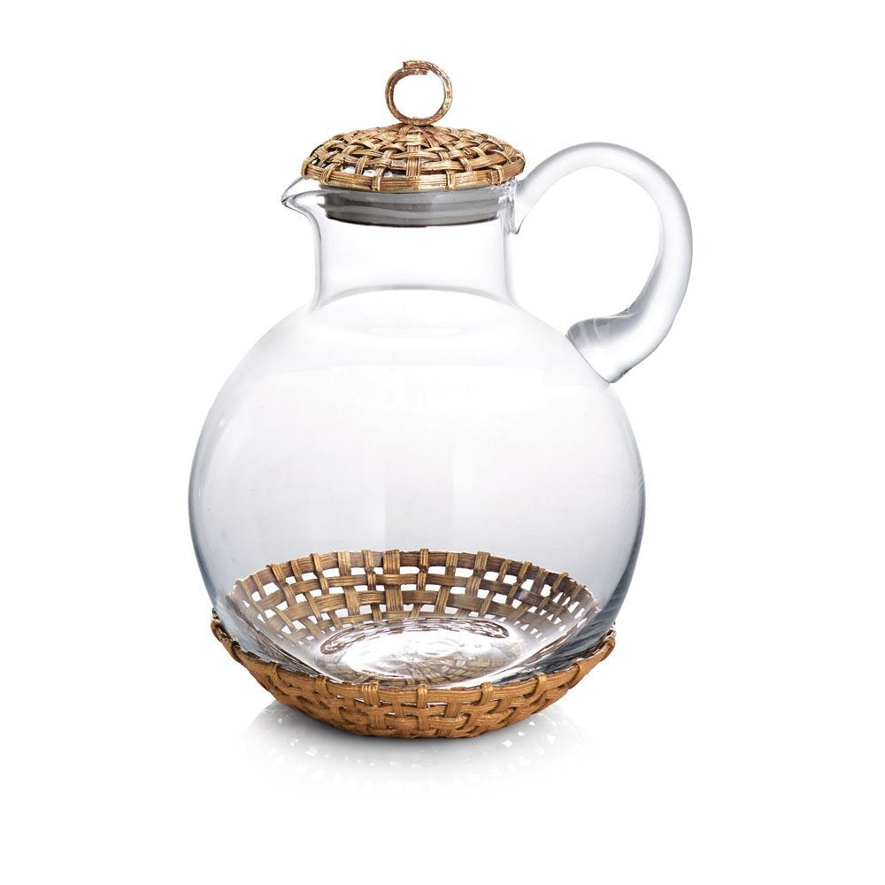 Palm Pitcher, Gold - china-cabinet.com