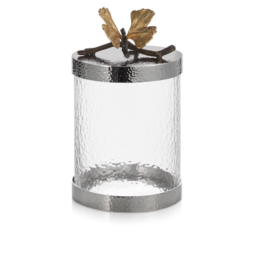 Michael Aram Butterfly Ginkgo Canister Extra Small - china-cabinet.com