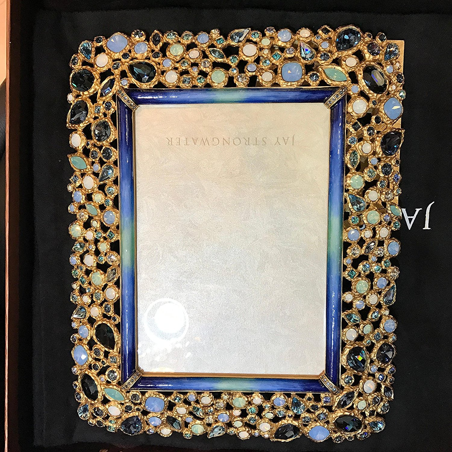 "Jay Strongwater Javier Bejeweled 5"" x 7"" Frame - Oceana - china-cabinet.com"