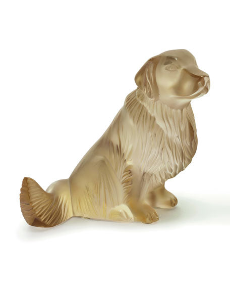 Lalique Golden Retriever Dog Sculpture - china-cabinet.com