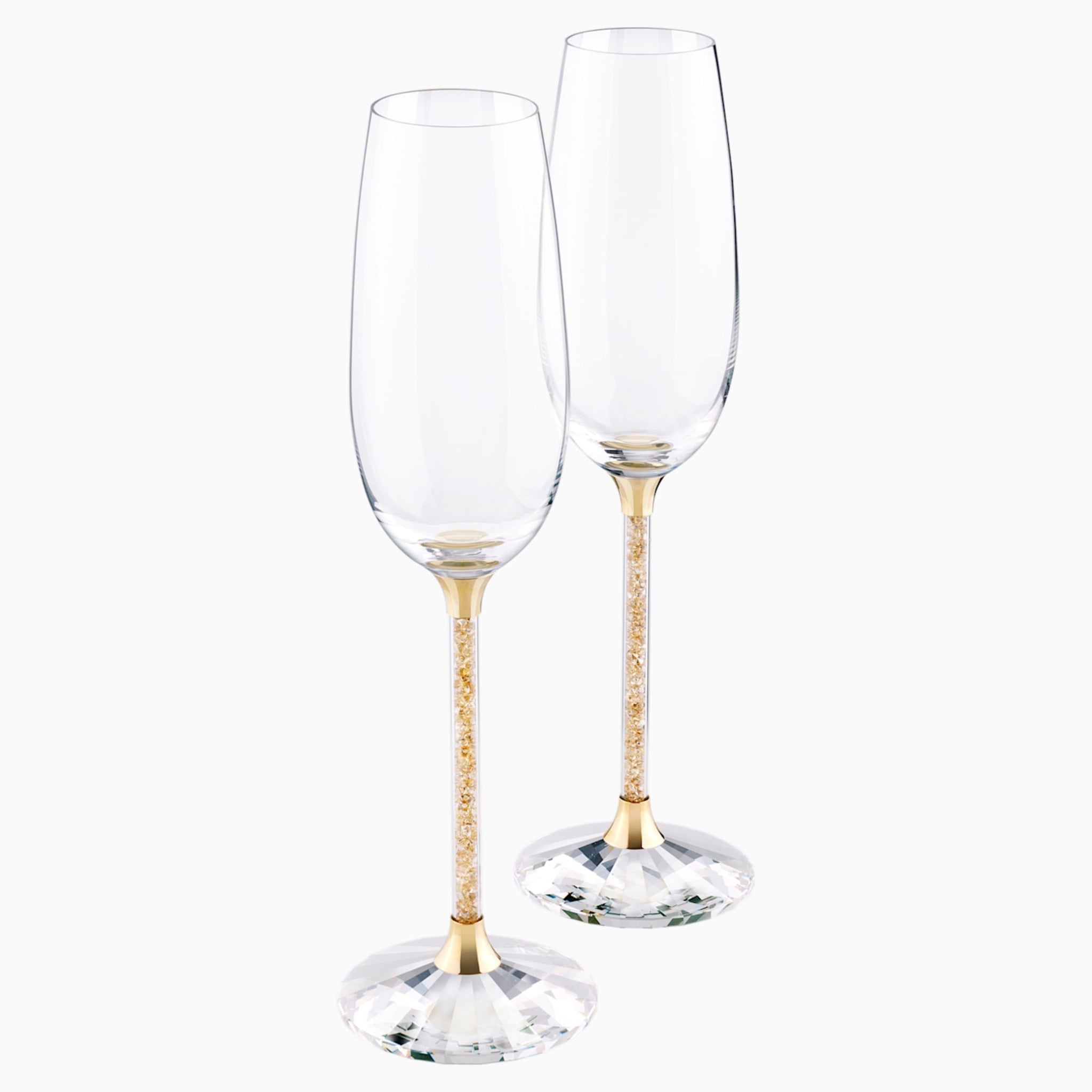CRYSTALLINE TOASTING FLUTES , GOLD TONE (SET OF 2) 5102143