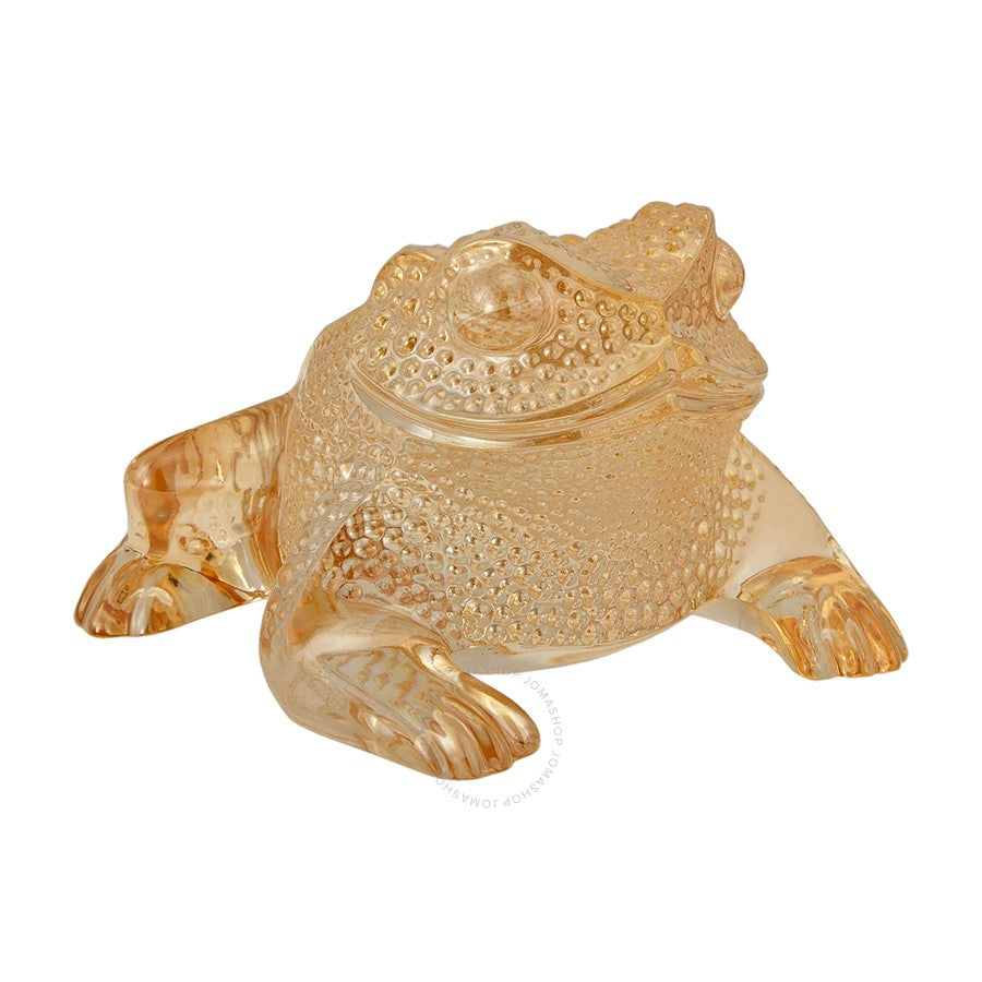 Lalique Toad Gregoire Gold Lustre - china-cabinet.com