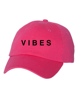 VIBES Dad Hat - HOT PINK NEON
