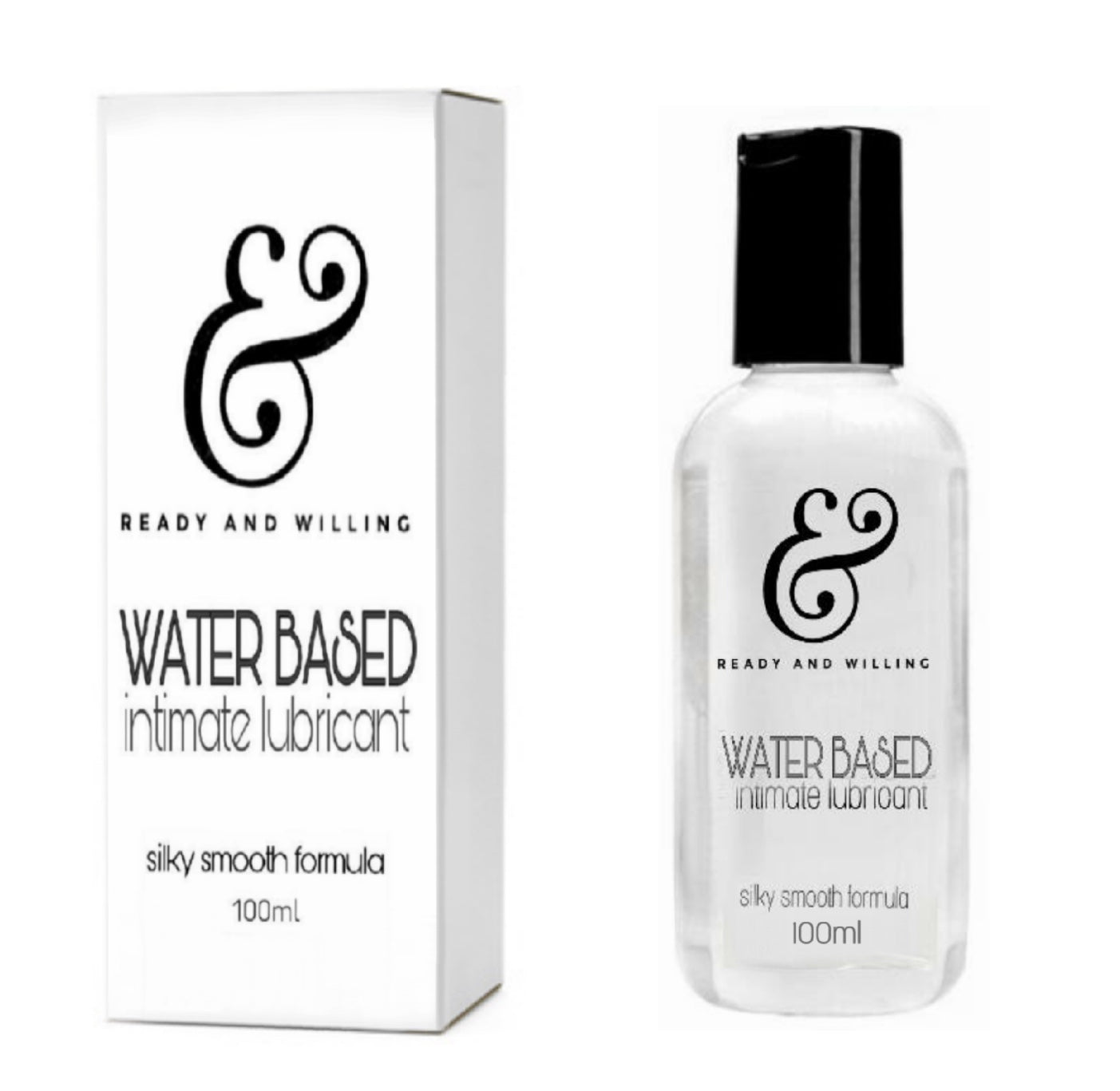 Premium Water Based Lubricant 100mL or 3.4 fluid ounces - Silky Smooth Formula