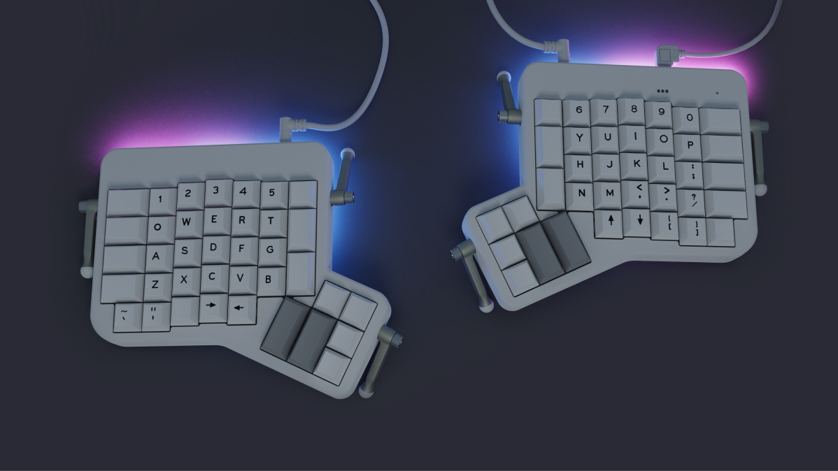 Instead of backlit keys, the Shine has an array of 15 powerful, programmable RGB LEDs on each side