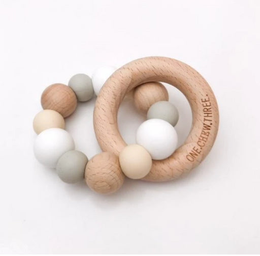 NATURALS Silicone and Beech Wood Teether