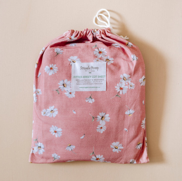 SNUGGLE HUNNY -Daisy | Fitted Cot Sheet