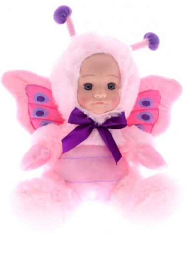 COTTON CANDY Fur Baby 25cm- PALOMA -Pink Butterfly