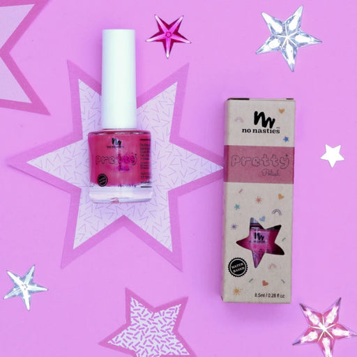NO NASTIES BRIGHT PINK WATER-BASED PEELABLE NAIL POLISH