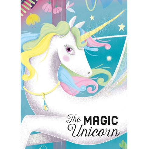 SASSI JUNIOR  Book and Puzzle - Unicorn 100 pcs