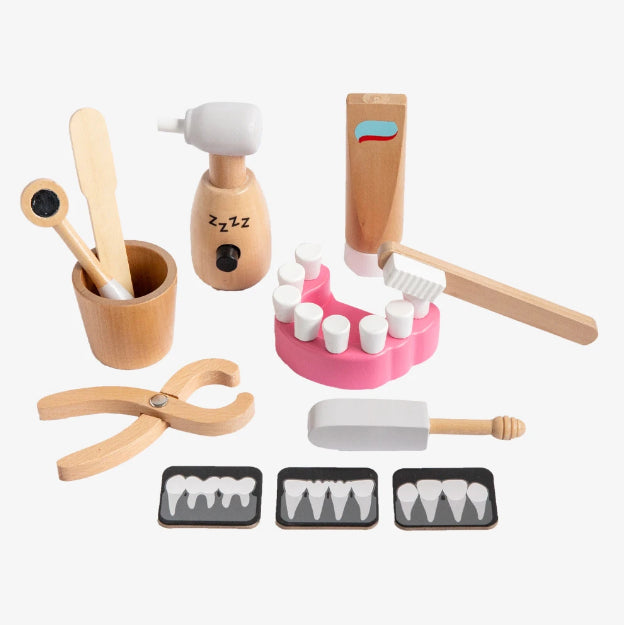 MAKE ME ICONIC TOY - wooden  DENTIST KIT