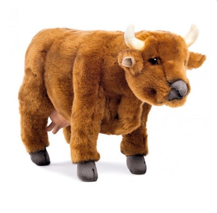 HANSA PLUSH COW -BROWN 38CM L.
