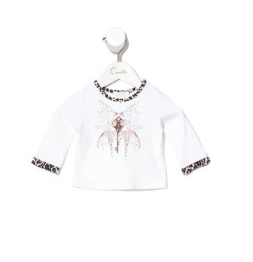 CAMILLA BABIES LONG SLEEVE TOP WITH FRILL -NOMADIC NYMPH