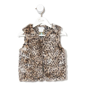 CAMILLA INFANTS FAUX FUR VEST- NOMADIC NYMPH