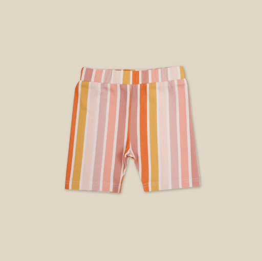 KAPOW KIDS BEACH STRIPE BIKE SHORTS