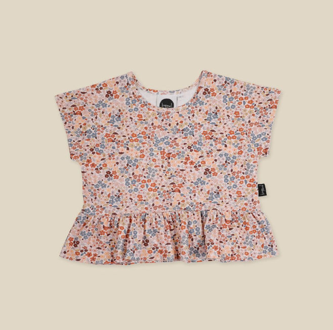 KAPOW KIDS BLOOM PEPLUM T-SHIRT