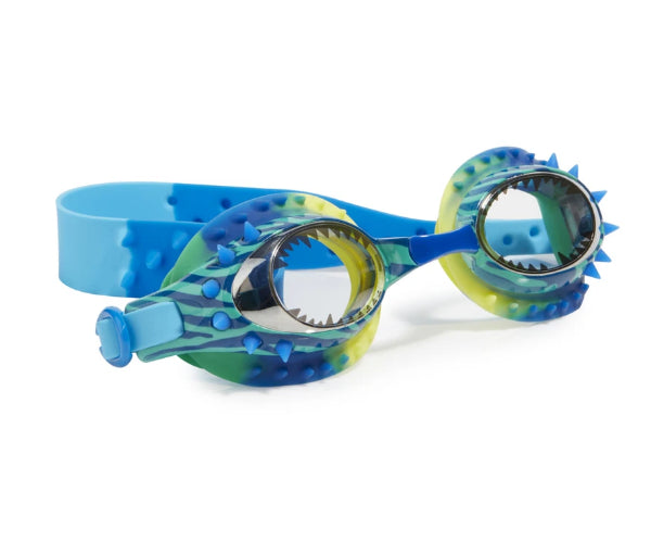 BLING 20 SWIM GOOGLES -Prehistoric Times-DIONMITE BLUE