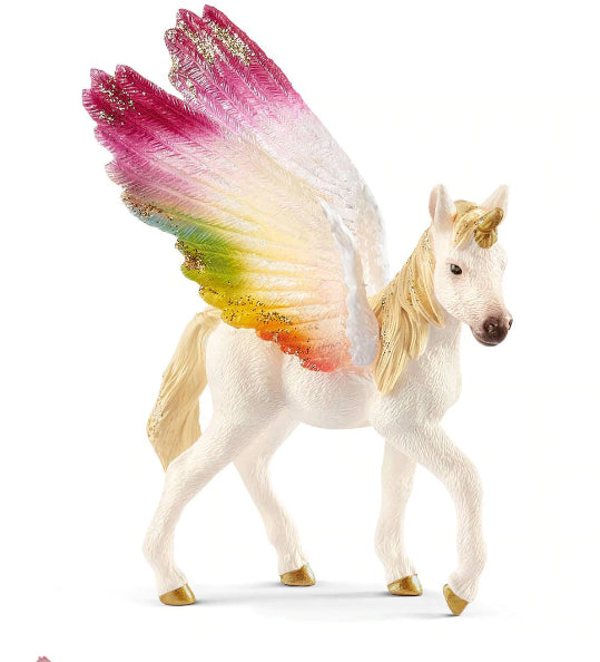 Schleich WINGED  Rainbow UNICORN  FOAL