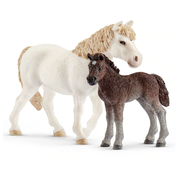 Schleich Pony Mare and Foal