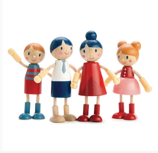 TENDER LEAF  Wooden Doll Family with Flexible Arms and Legs