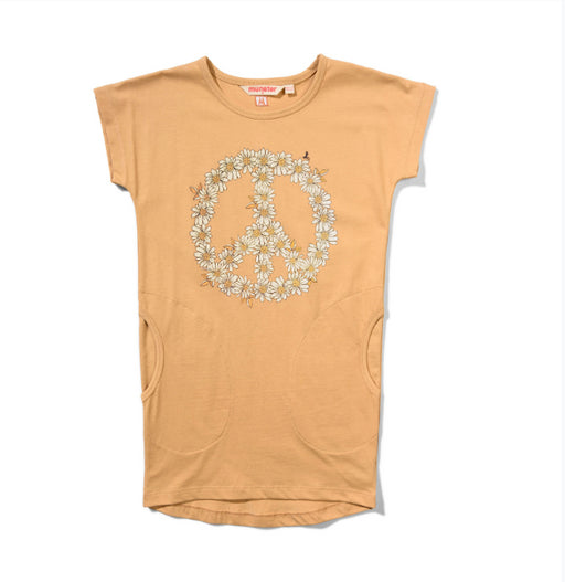 MUNSTER KIDS DAISY PEACE DRESS-PORCINI