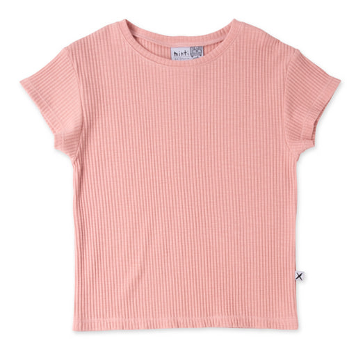 MINTI DELUXE RIB TEE - MUTED PINK