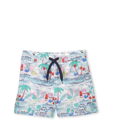 MILKY SUMMER BOARD SHORTS -FLORAL