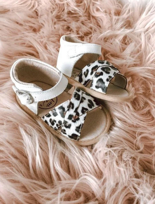 LITTLE MAZOE'S DELUXE SANDALS -ANIMAL PRINT-2 TONE