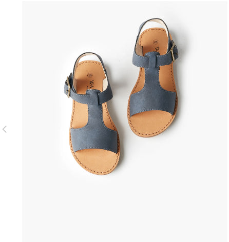 WALNUT Racer Sandal- Navy