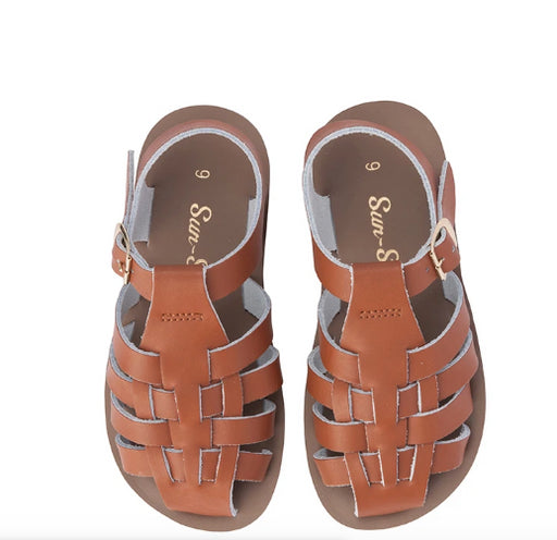SALTWATER SANDALS Sun-San Sailor - Child -TAN