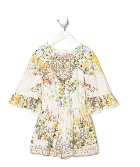 CAMILLA  KIDS INFANTS PLAYSUIT WITH TRIM IN THE HILLS OF TUSCANY
