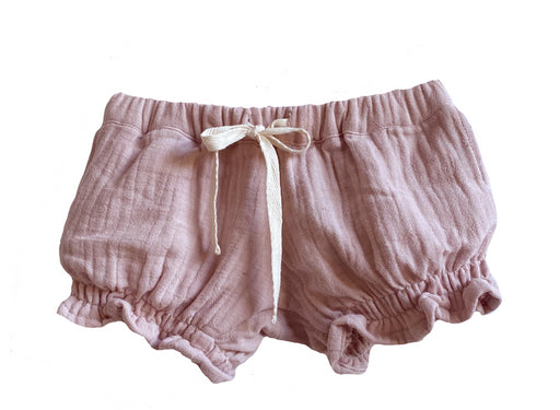 DUKES AND DUCHESSES MUSK PINK SHIRRED SHORTS