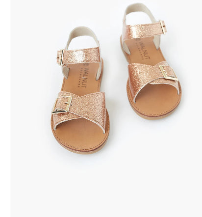 WALNUT   Ryder Sandal- ROSE JELLY GLITTER