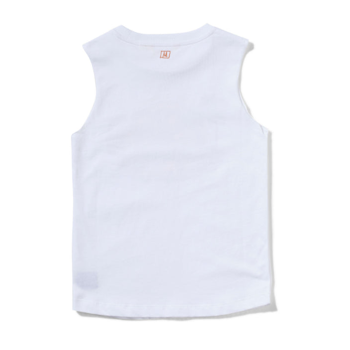 MUNSTER  KIDS COMBI TANK TOP - WHITE