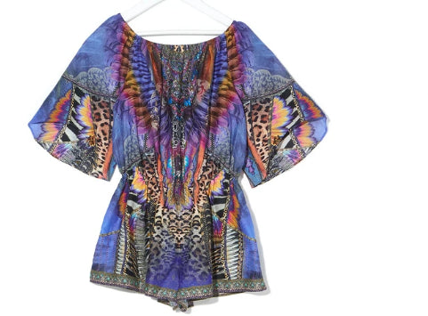 CAMILLA KIDS 3/4 FLARE SLEEVE PLAYSUIT LOVE ON THE WING