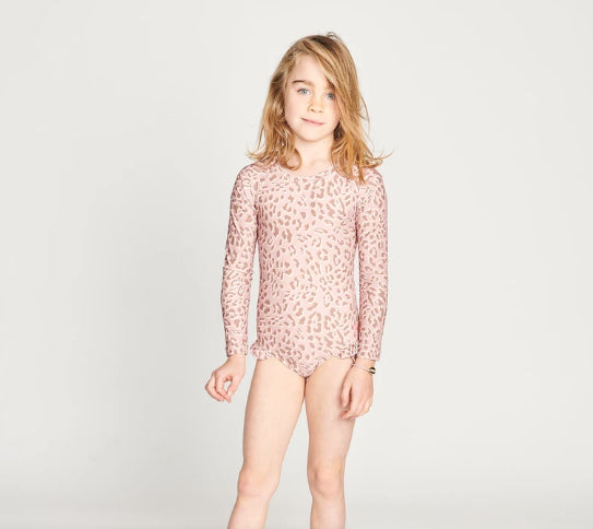 MUNSTER KIDS  LUNA ONEPIECE SWIMSUIT - DUSTY LEOPARD