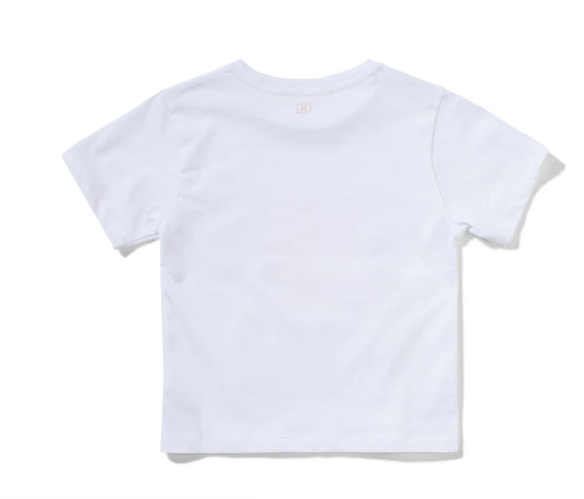 MUNSTER KIDS  LUNASHELL T-SHIRT - WHITE