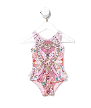 CAMILLA  BABIES RUFFLE BACK ONE PIECE SWIMMERS-BELIEVE BELIEVEI