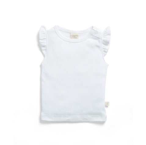 TINY TWIG ROUND NECK TEE -WHITE