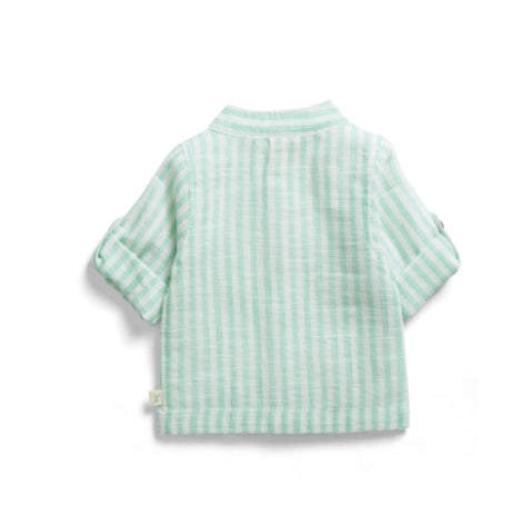 TINY TWIG GANDHI SHIRT -OCEAN STRIPES