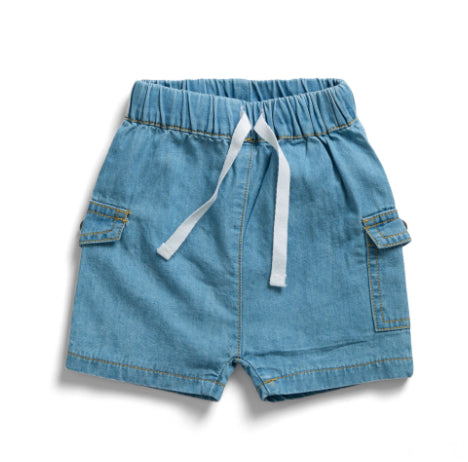 TINY TWIG BEACH SHORTS -DENIM BLUE