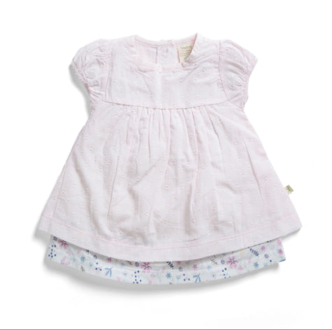 TINY TWG LAYERED DRESS WITH BLOOMER -PORCELAIN FLORAL