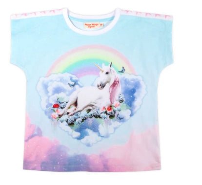 Paper Wings Simple T-shirt - Unicorn Cloud