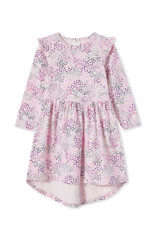 MILKY PATCHWORK DRESS-BLOSSOM PINK
