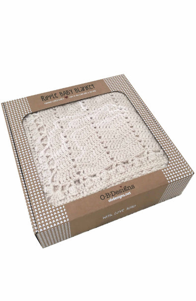 o b designs ripple blanket white