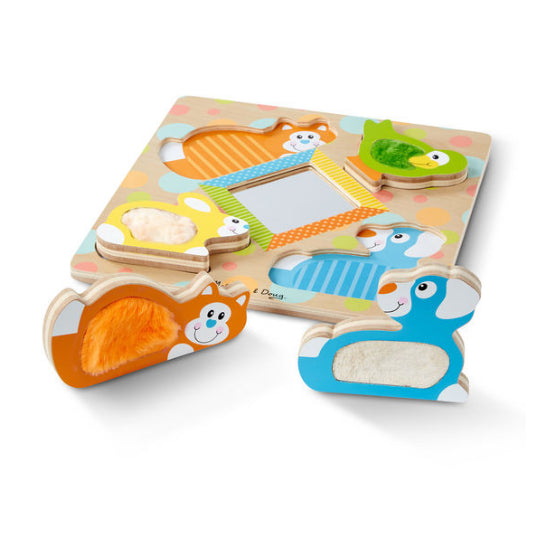 melissa and doug first play first touch& feel puzzle -pets