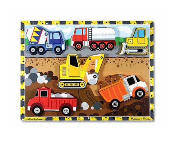 Melissa and Doug construction puzzle-scooper