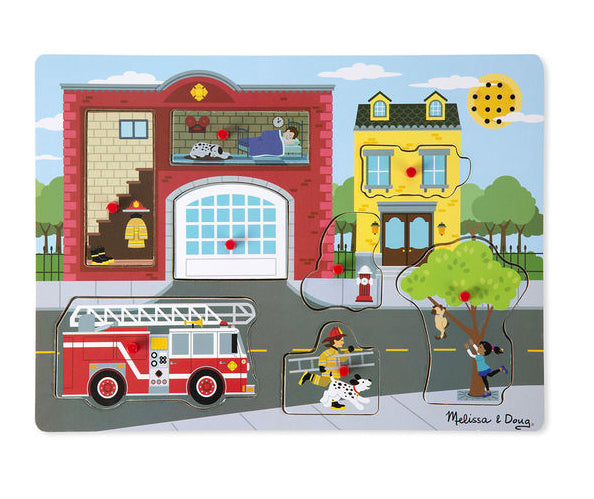 melissa and doug fire station sound puzzle